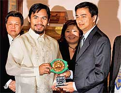 Manny Pacquiao and PM Abhisit