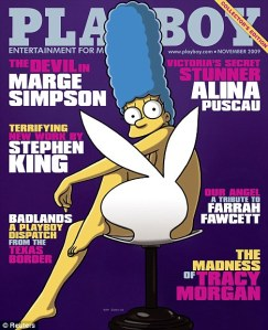 Marge Simpson in Playboy